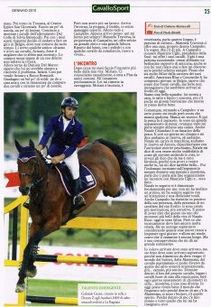 Dream Z artikel Cavallo Sport Italia Januari 2010